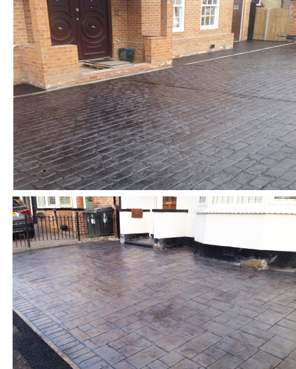 Pattern imprinted driveway installers